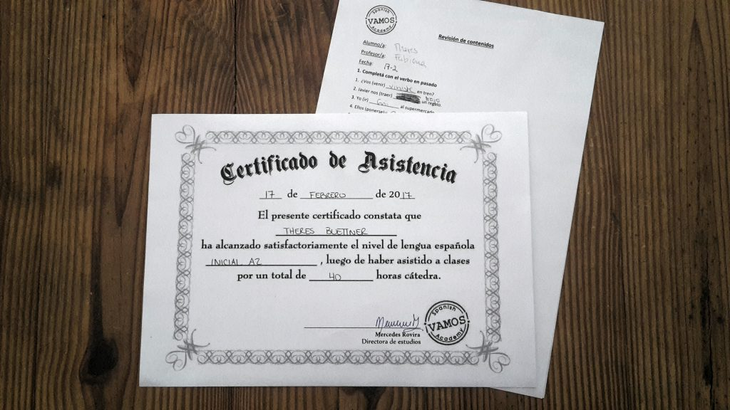 day155 – Spanish certification A2 – my daily first time